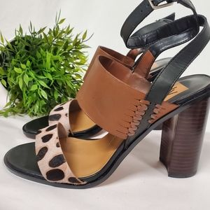 Vince Camuto cheetah Leopard animal fur print heel